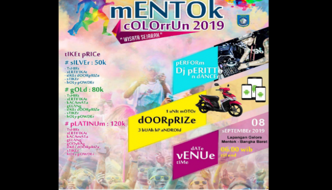 Mentok Color Run.(ist)